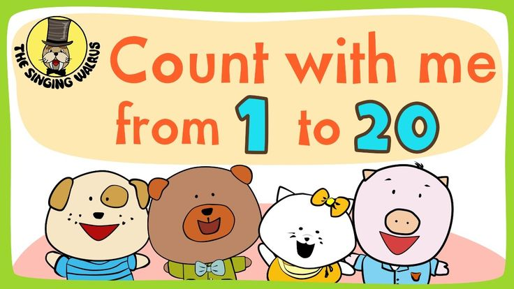 "The Singing Walrus presents ""Number song 1-20 for children"" - an upbeat chant that helps kids count the numbers 1-20. The kids all count from 1-20 together three times, each time counting faster than the previous. This is perfect for preschool aged children, and for young learners of ESL and EFL!"