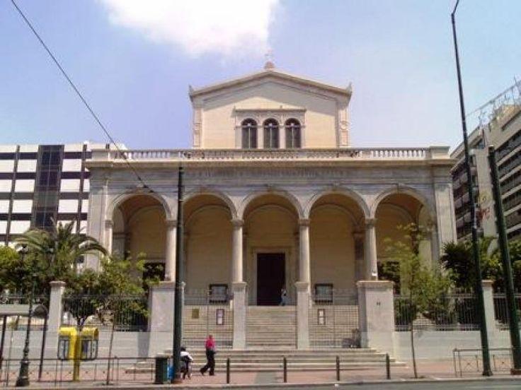 Εκκλησία Διονυσίου Αρεοπαγίτου. Ρωμαιοκαθολικός ναός. Σχέδια του Γερμανού  Leo von Klenze. (1853-1865).