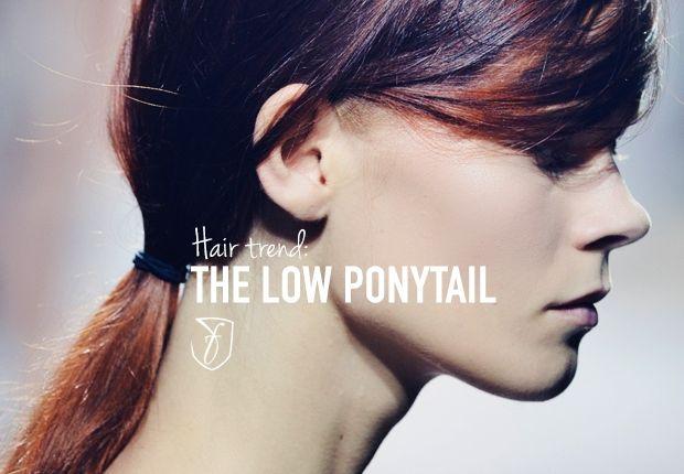 2014 Hair trend alert:  low ponytail hairstyles