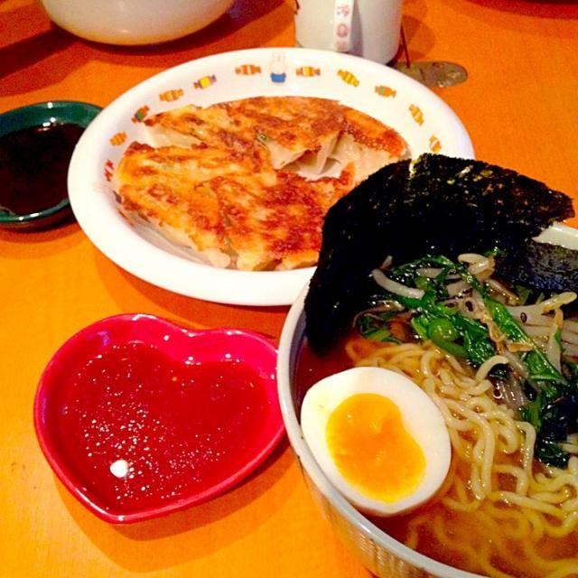 モヤシピーマン炒め、煮卵、焼き海苔 - 38件のもぐもぐ - 醤油ラーメン&餃子 by mjuk