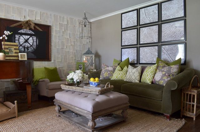 Great Dark Green Living Room On Living Room With Dark Green Sofa Home Design Ideas Pictures Remodel And Decor 16