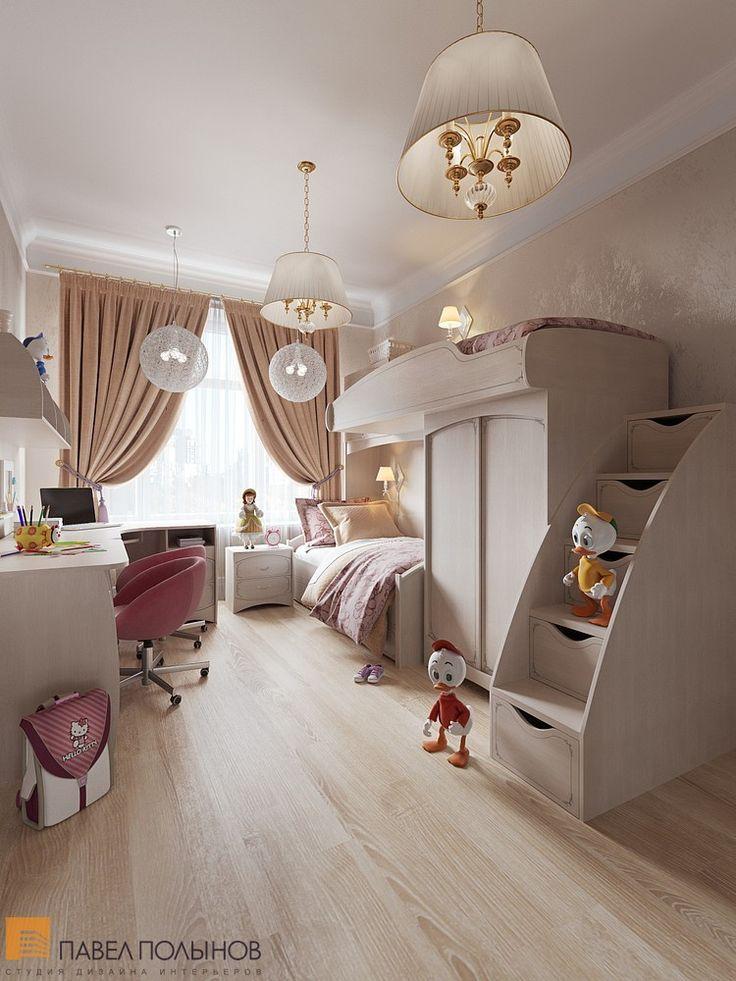 Детская комната для девочки в светлых тонах