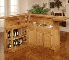 Home Bar Ideas Climbing Wall Furniture Simply Perfect Mini Bar Design In  Wood Materials With Cabinetry And L Shape Design For Your Home Bar  Wonderful Home ...