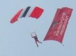 Red Devil Parachutist at Veteran's Weekend at East Park, Hull
