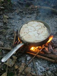 Cooking Bannock - Bushcraft Style - Camp Craft - Natural Bushcraft - The True Spirit of Bushcraft