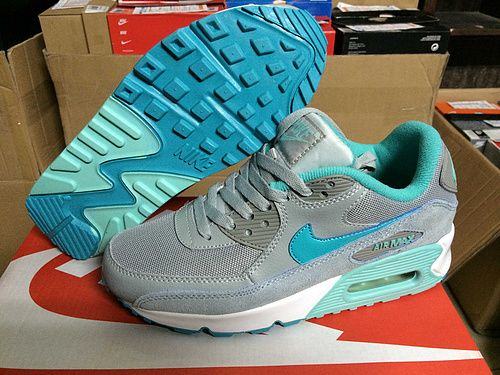 Women's Nike Air Max 90 Sneaker Shoes A  Jogging Shoes Max 90 Gray Green only US$89.00 - follow me to pick up couopons.