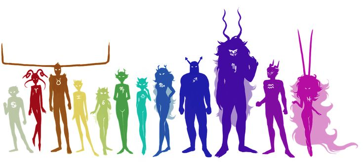 Homestuck #Ancestors I just love )(IC's hair and pose