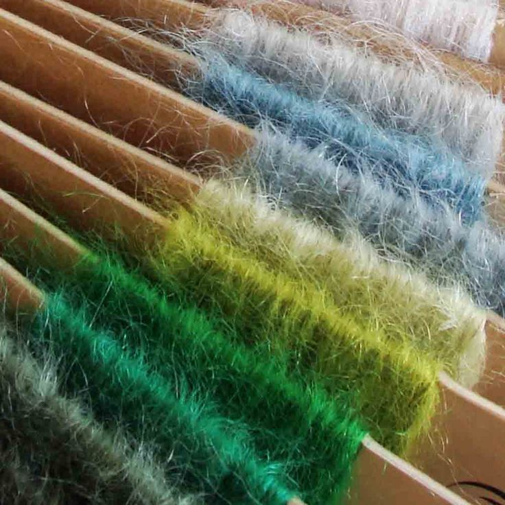 Shades of Green mohair throws