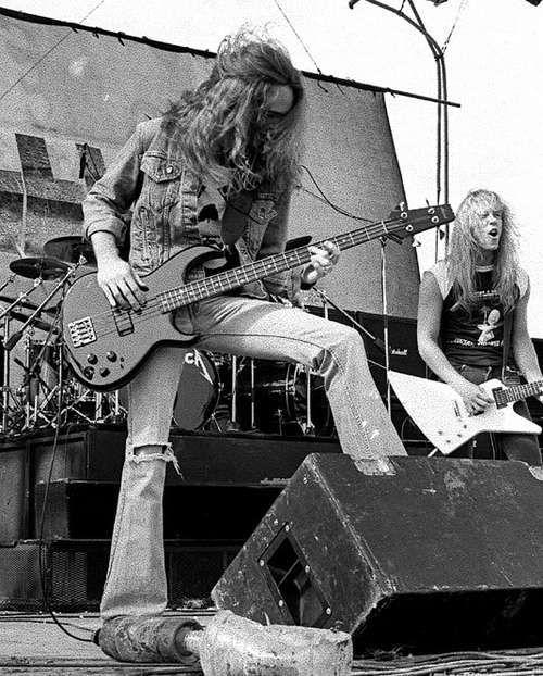 Cliff Burton & James Hetfield