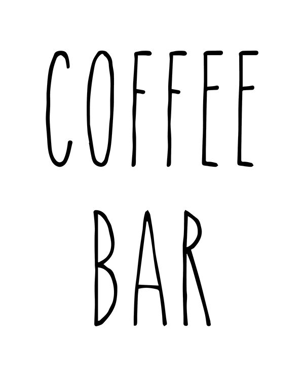 Free Rae Dunn Printable Diy Lettering Coffee Bar Signs