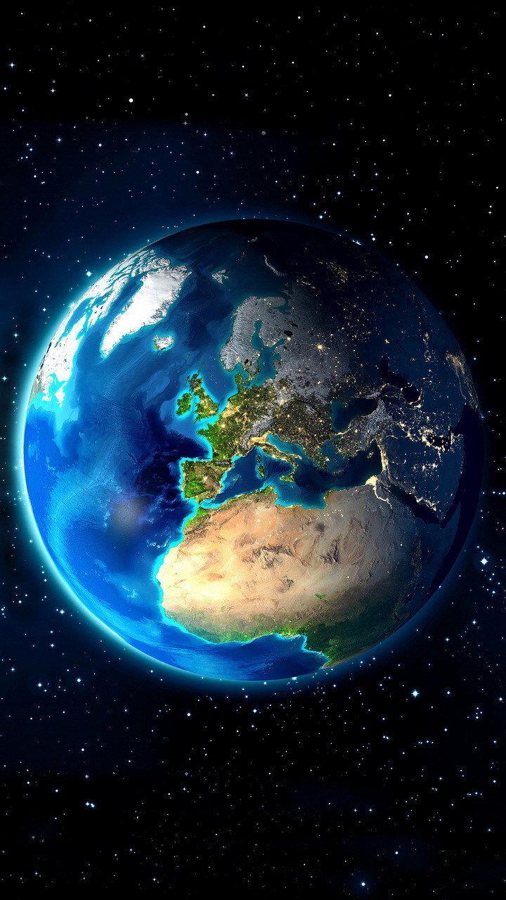 Desativado Earth From Space Space Art Galaxy Wallpaper