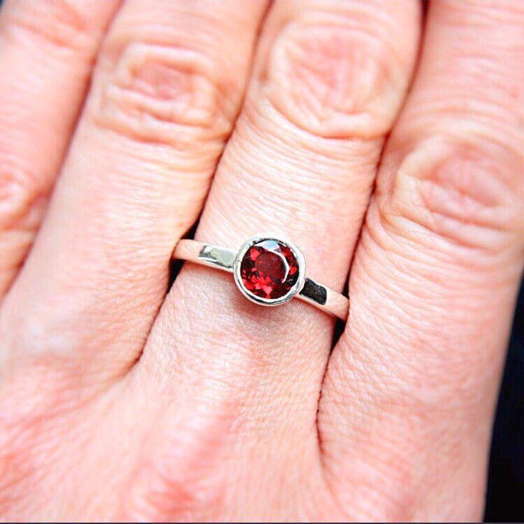 Red Garnet Ring ❤️