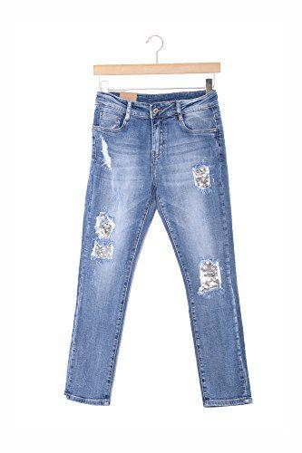 Abbino CG005 Jeans para Mujeres – Colores Variados – Entretiempo Transición  Primavera Verano Sensibilidad Vintage Fashion 206b4237fc4