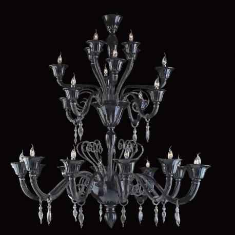 """""""Nito"""" Murano chandelier, hand made by authentic Masters glassblowers from Murano.Made on demand. The dimensions and the colors can be customised to individual specifications.Worldwide shipping and total insurance coverage."""