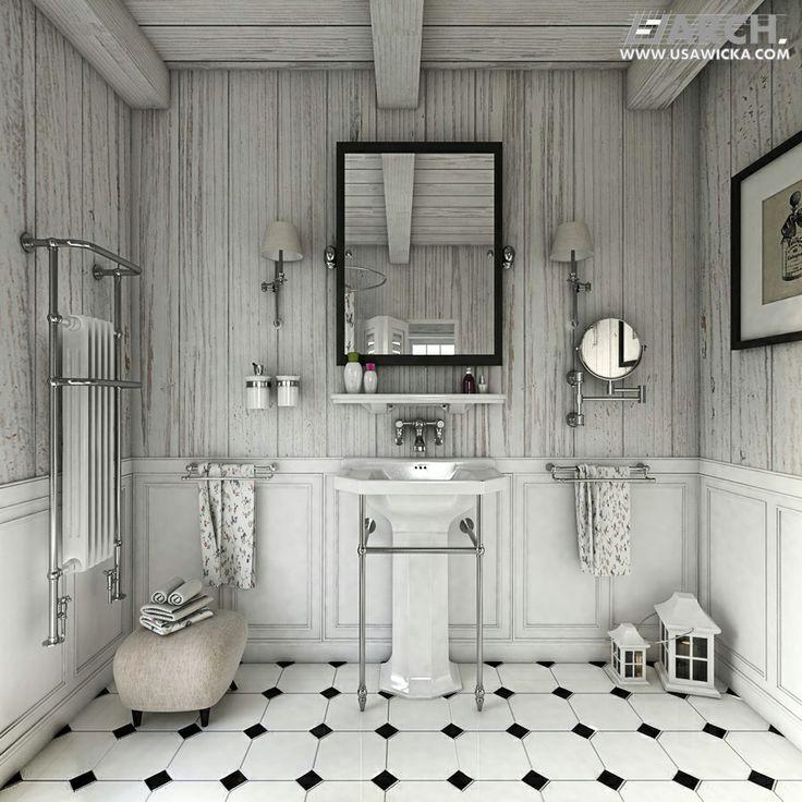 Farmhouse. Bathroom. www.usawicka.com
