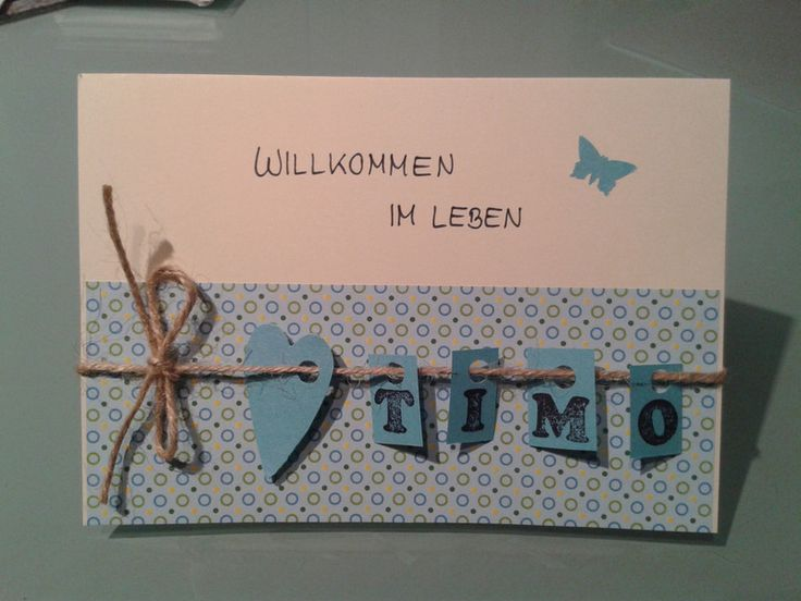 cute idea for a name on a card