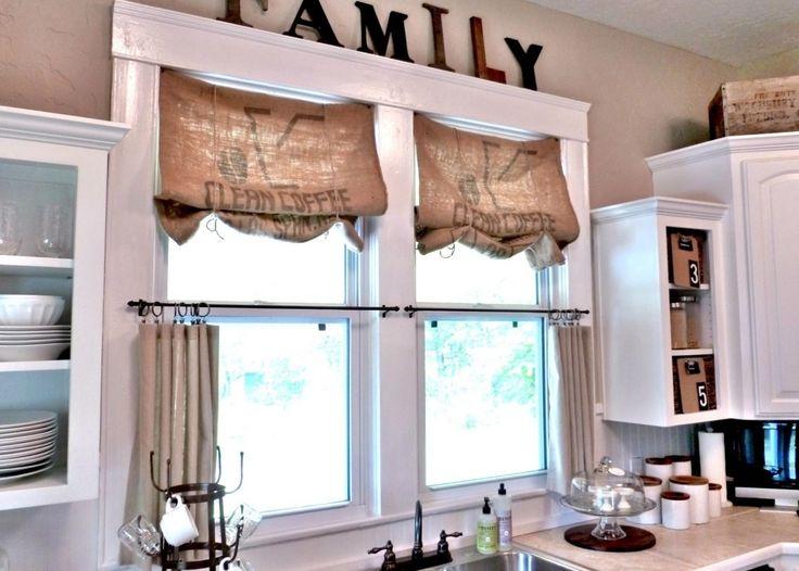 Easy Kitchen Window Curtains