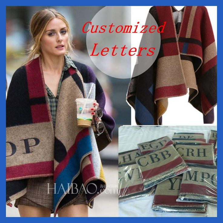 Brand Women Poncho Prorsum Cashmere Wool Scarf Monogramed Poncho Prorsum Cape Plaid Winter Check Blanket Poncho bufanda manta