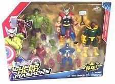 NEW Marvel Super Hero Mashers Avengers 44 Iron Man Hulk Captain America Thor #eBayDanna