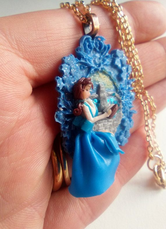 beauty and the beast miniature necklace di ErikaDreamArt su Etsy