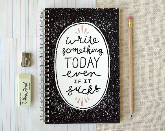 Hey, I found this really awesome Etsy listing at https://www.etsy.com/listing/164475951/spiral-notebook-journal-write-something