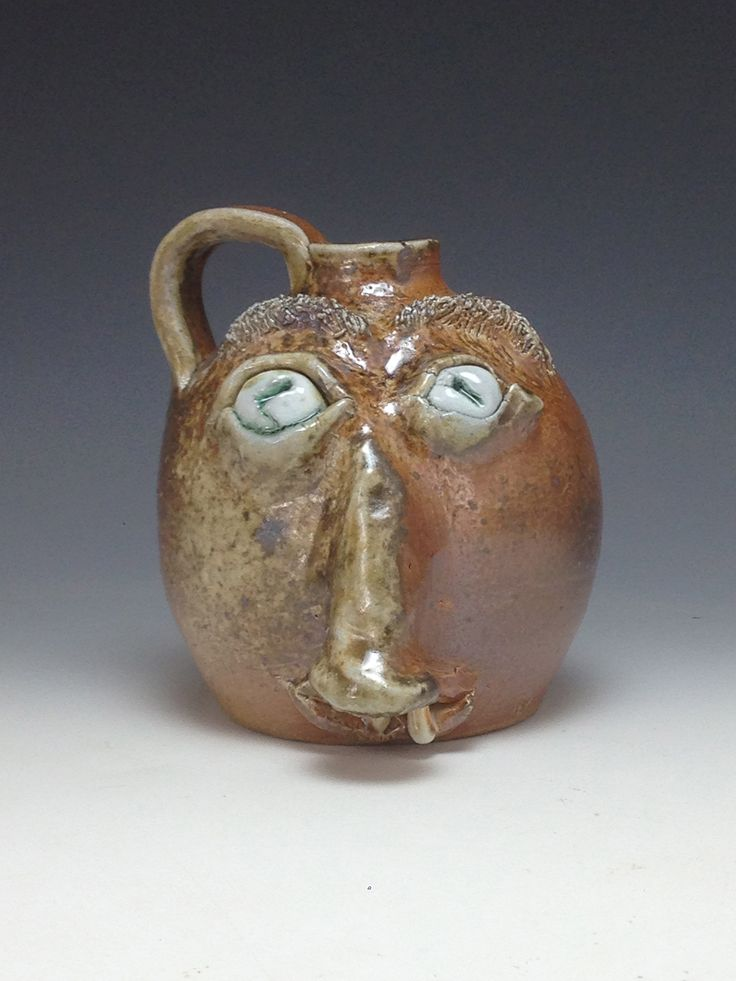Woodfired jug #facejug #growler #traditional