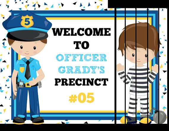 Police Precinct Welcome Sign Personalized Cops Robbers K-9