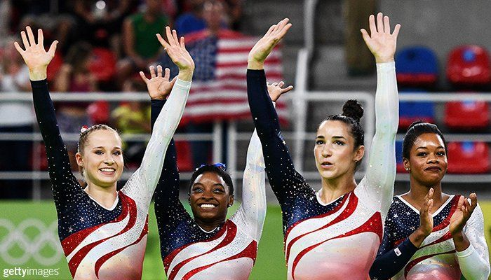 U.S. Olympic Team ‏@TeamUSA  Aug 9 Colorado Springs, CO ABSOLUTELY AMAZING. #USA  USA Gymnastics, Simone Biles, Gabrielle Douglas and 3 others