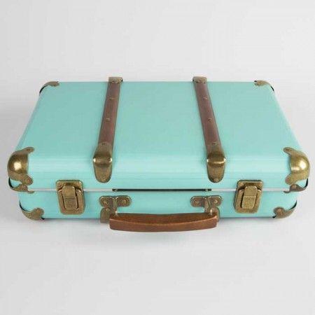 Vintage Koffer Aqua