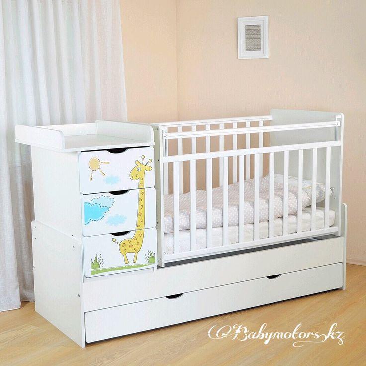 Детская кровать-трансформерСКВ Жираф превосходно подойдет вкачестве спального места как для новорожденного ребенка, так и для подростка.  ❗️ ✅Двухуровневое ложе ✅Маятник поперечного качания ✅Материалы: ЛДСП,массив берёзы,МДФ ✅Увеличенный пеленальный стол ✅Нижний ящик: 1 шт ✅Комод: 3 ящика  #КроватьТрансформер #СКВжираф #мебельвдетскую #кроватка #манеж #кроваткатрансформер #комод #пеленальныйстолик #моймалыш #детскийсон #дляноворожденных #магазиндетскихтоваров #вседлядетей #babymotorskz