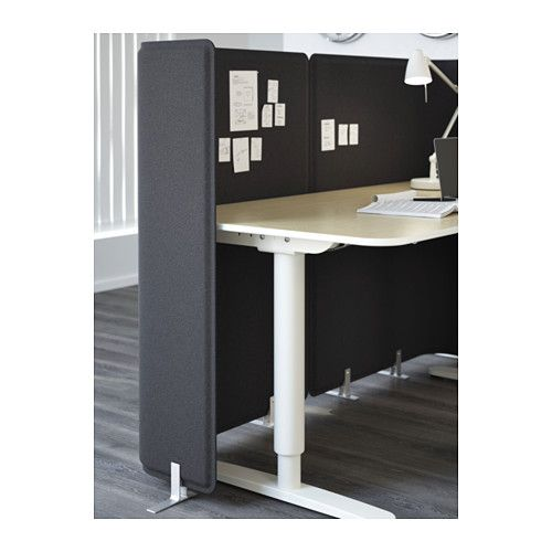 """Floor mounted privancy and sound reducing screen by IKEA.  BEKANT Screen for desk - 47 1/4"""""""