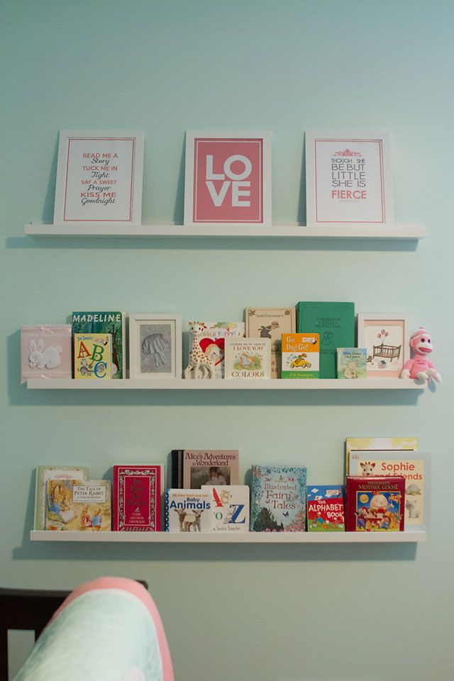 My DIY Mint, Coral & Gray Classic Storybook Nursery | Creative House Blog