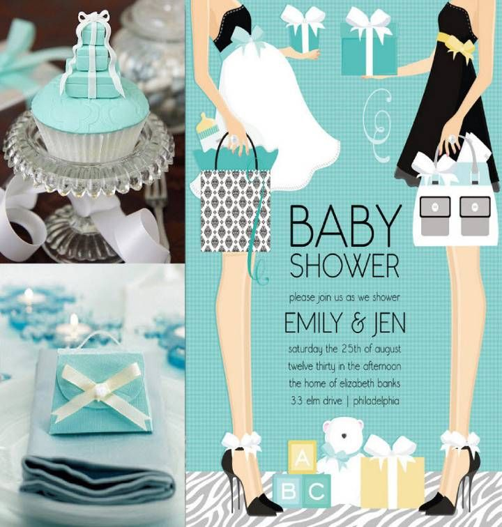 Joint Baby Shower , Tiffany Co. Theme