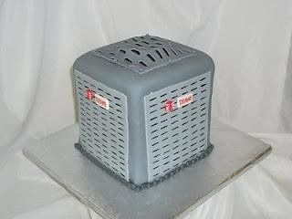 air conditioner birthday cakes   It's an air conditioner cake! This is so cool! (ha! pun intended!)