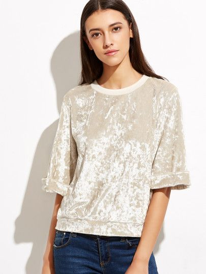 Shop Apricot Crushed Velvet Top online. SheIn offers Apricot Crushed Velvet Top & more to fit your fashionable needs.