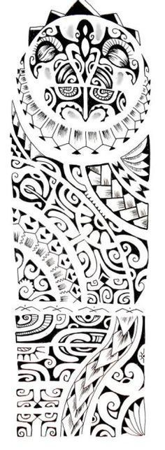 New Polynesian Sleeve Tattoo Design