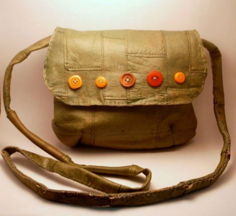 leather handmade bag - for sale
