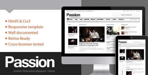 ThemeForest - Passion- Magazine HTML5 Template - RIP