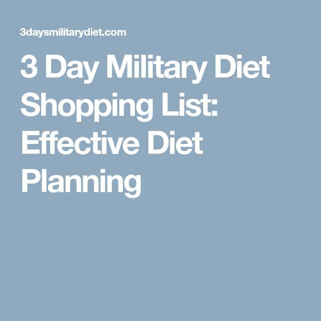 3 Day Military Diet Shopping List: Effective Diet Planning