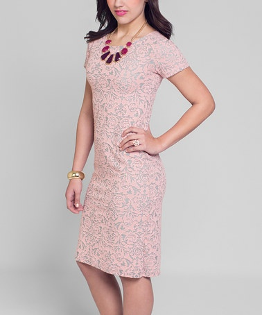 Take a look at this Pink Paisley Dress by Junie Blake on #zulily today!
