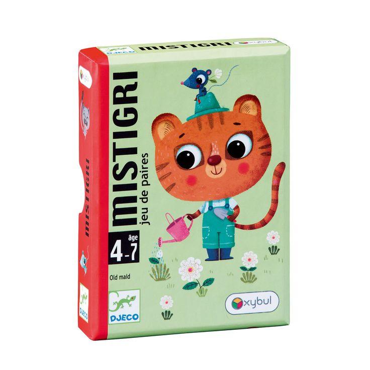 Jeu de cartes Mistigri Djeco pour enfant de 4 ans à 7 ans - Oxybul éveil et jeux: