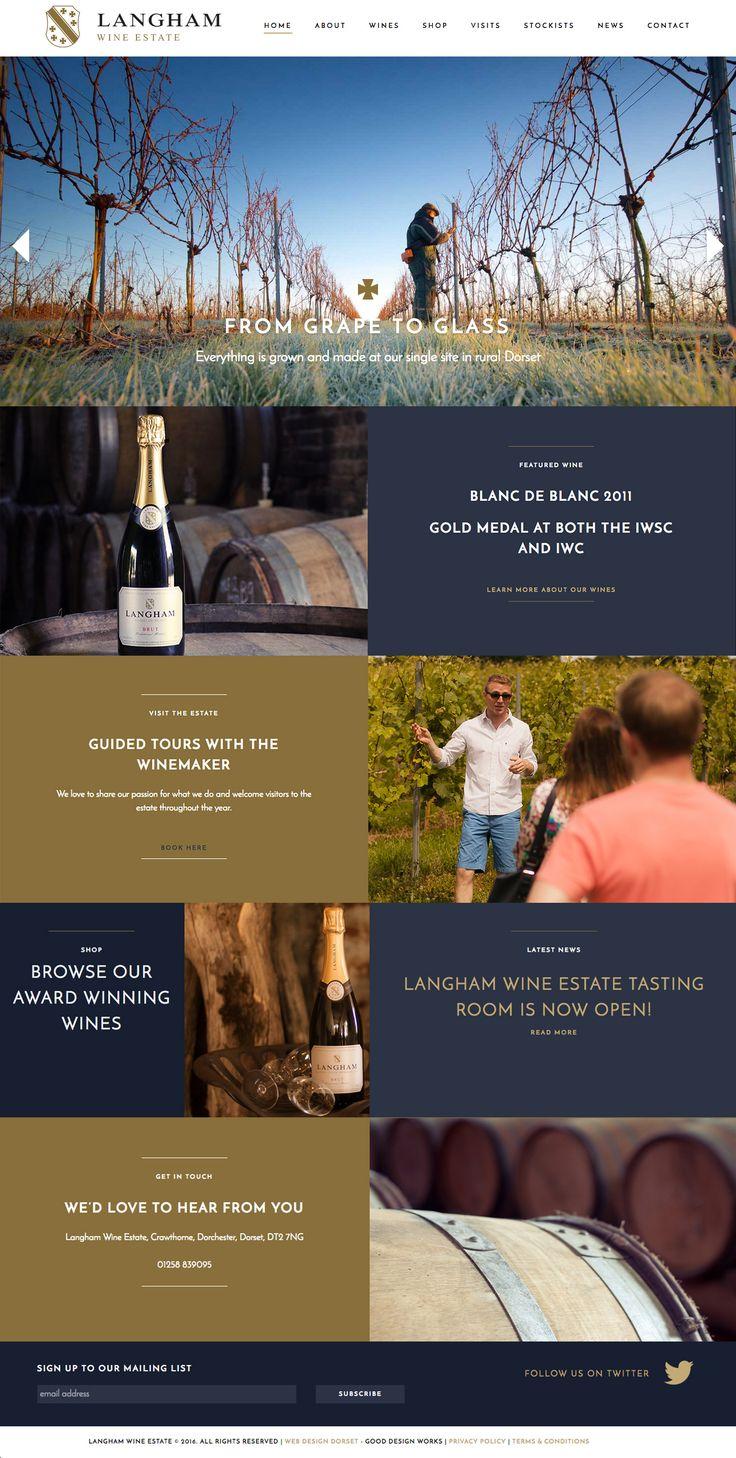 Langham Wine Estate - Winery Website | Website Design Dorset | Good Design Works
