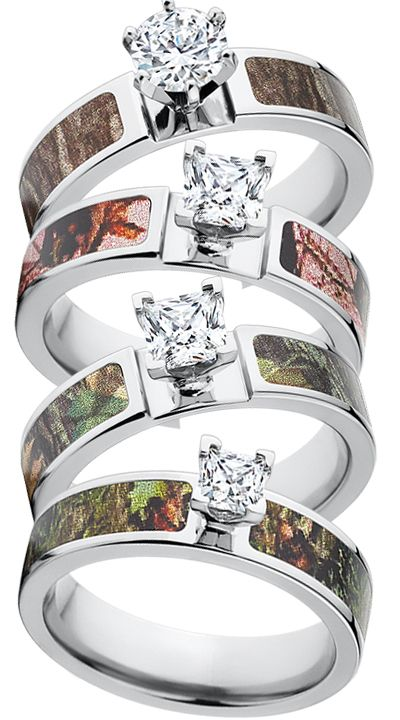 I want a Mossy Oak Camo Engagement Ring!  The best camo wedding bands around!  www.thejewelrysource.net