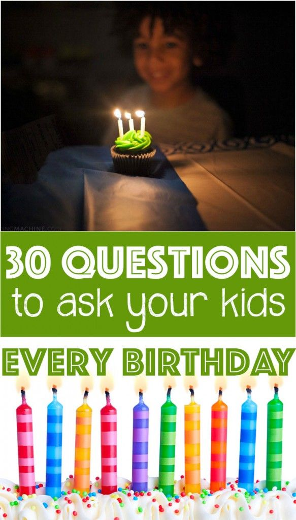 7 best Yearly Questions to Ask Kids on Their Birthday images on