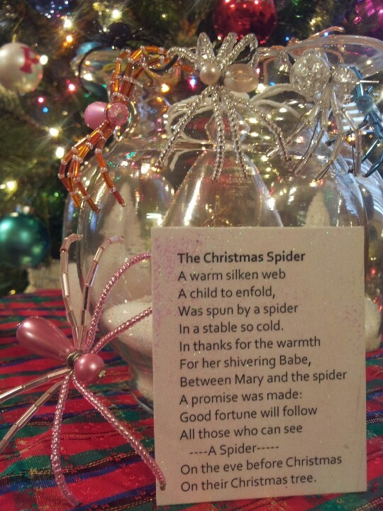 Christmas Spider My Mother S Talent Pinterest