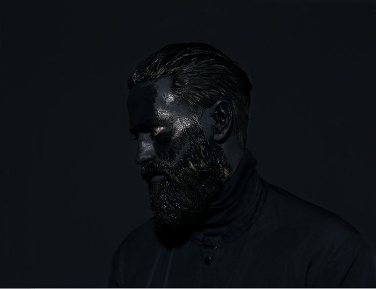Mustafa Sabbagh #mustafasabbagh #black #mask #portrait #serie