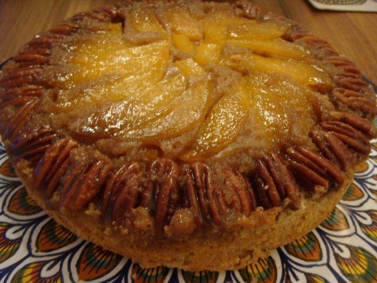 Cake Recipe in addition Peach Praline Upside Down Cake besides Peach ...