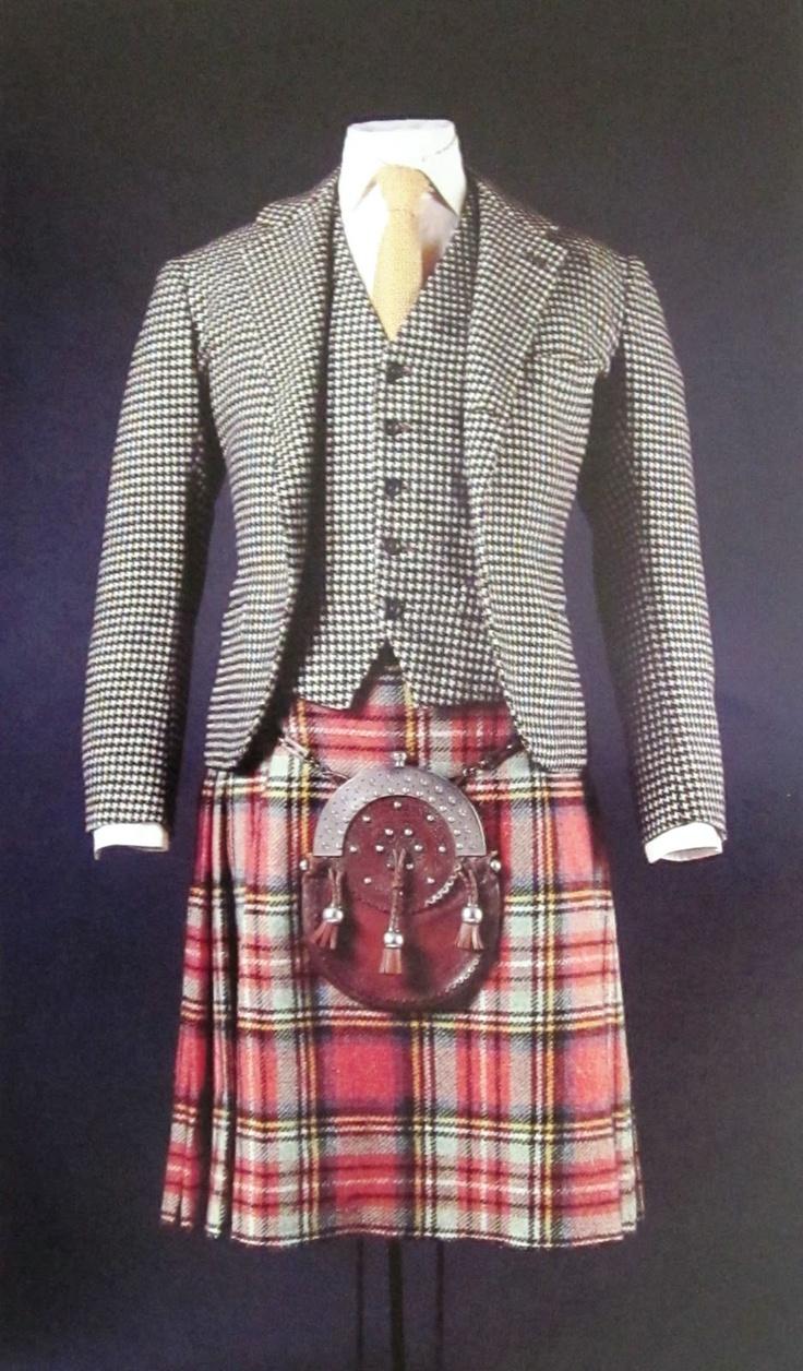 The Duke of Windsor's Houndstooth jacket and waistcoat, kilt, beautiful silver…