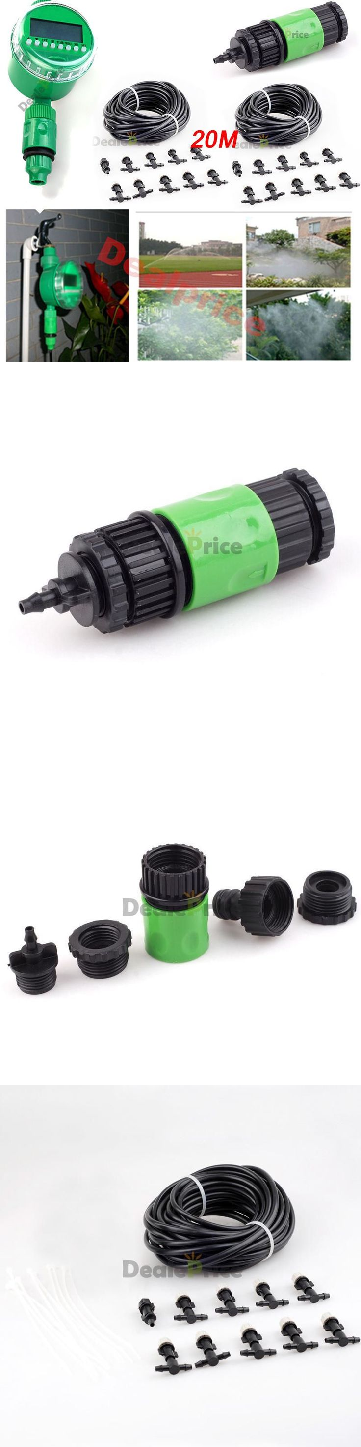 Hose Nozzles and Wands 181015: 20M Hose Automatic Misting Cooling System Watering Irrigation Lcd Timer Kit -> BUY IT NOW ONLY: $38.95 on eBay!