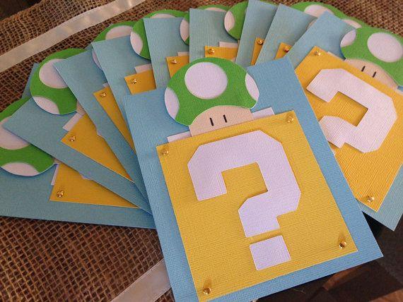 17 mejores ideas sobre Invitaciones De Mario Bros en Pinterest | Fiesta de mario bros ...